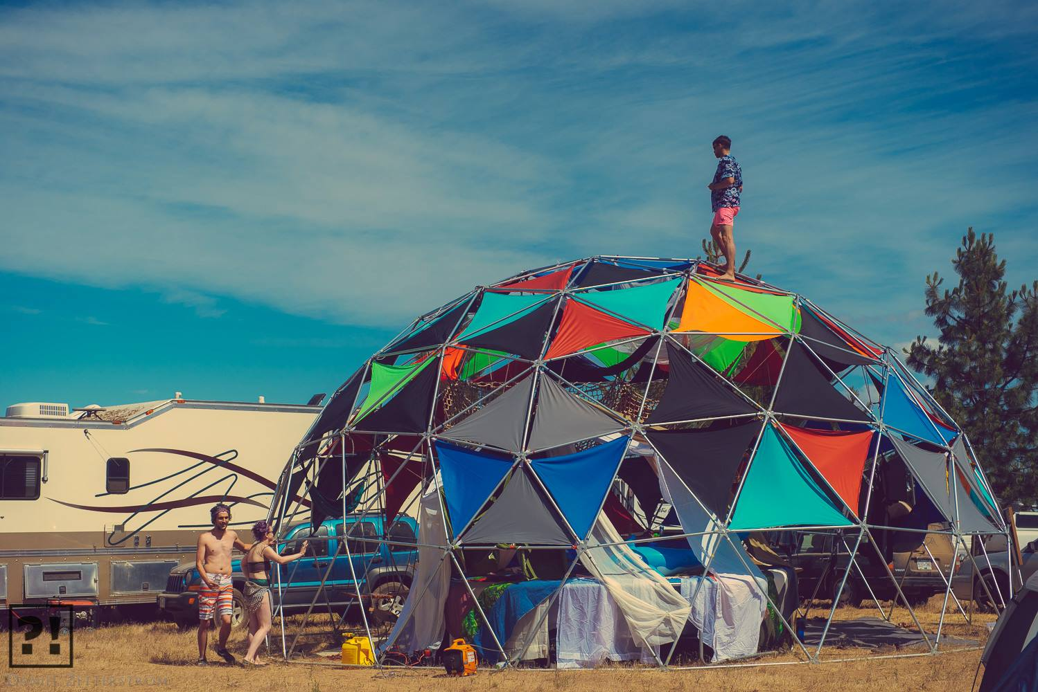The geodesic dome where we continued the celebrations. Photo credit © Daniel Zetterstrom from WhatTheFestival 2014.