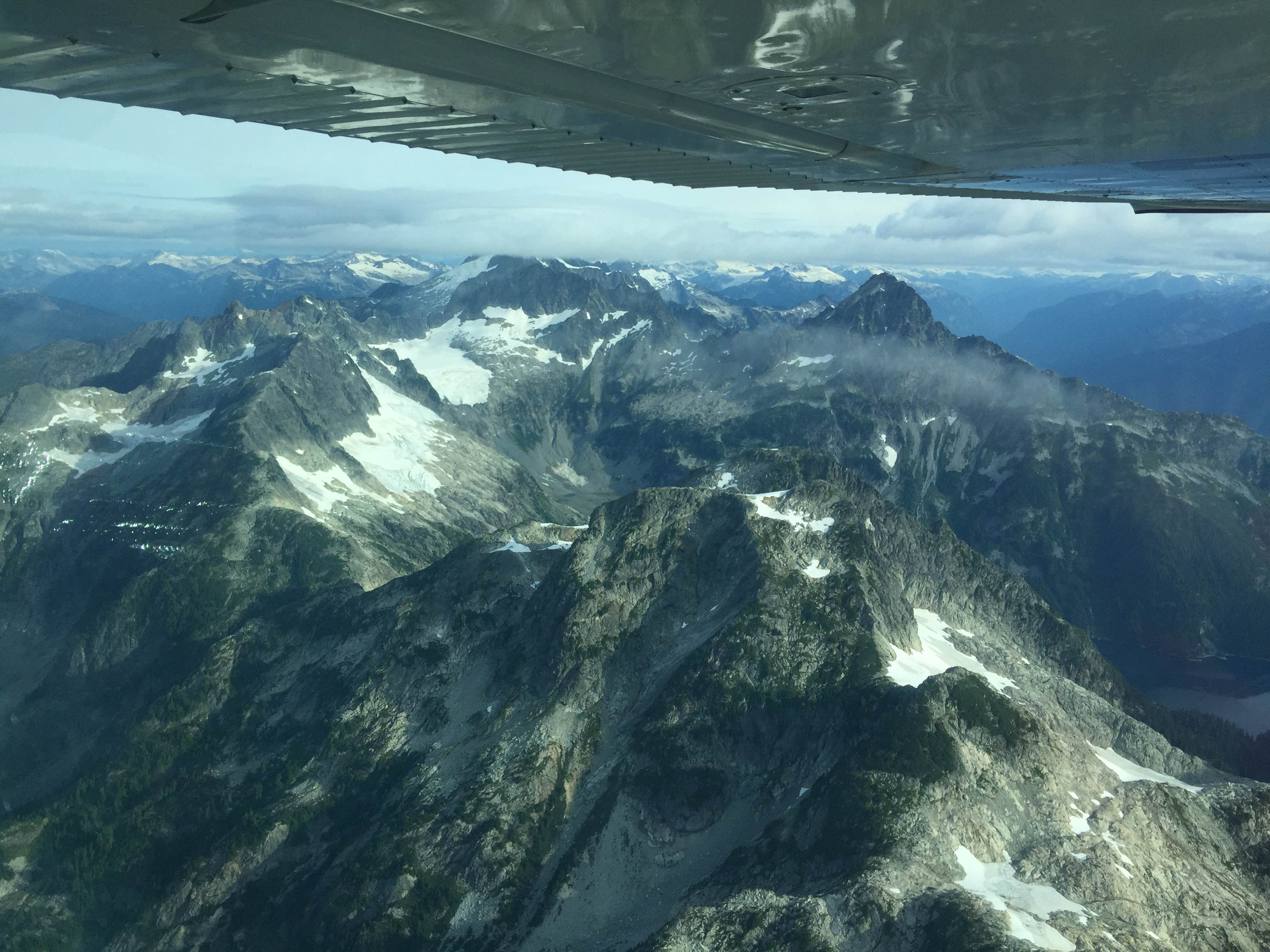 Flying over Beautiful British Columbia. What a start to a sailing trip!