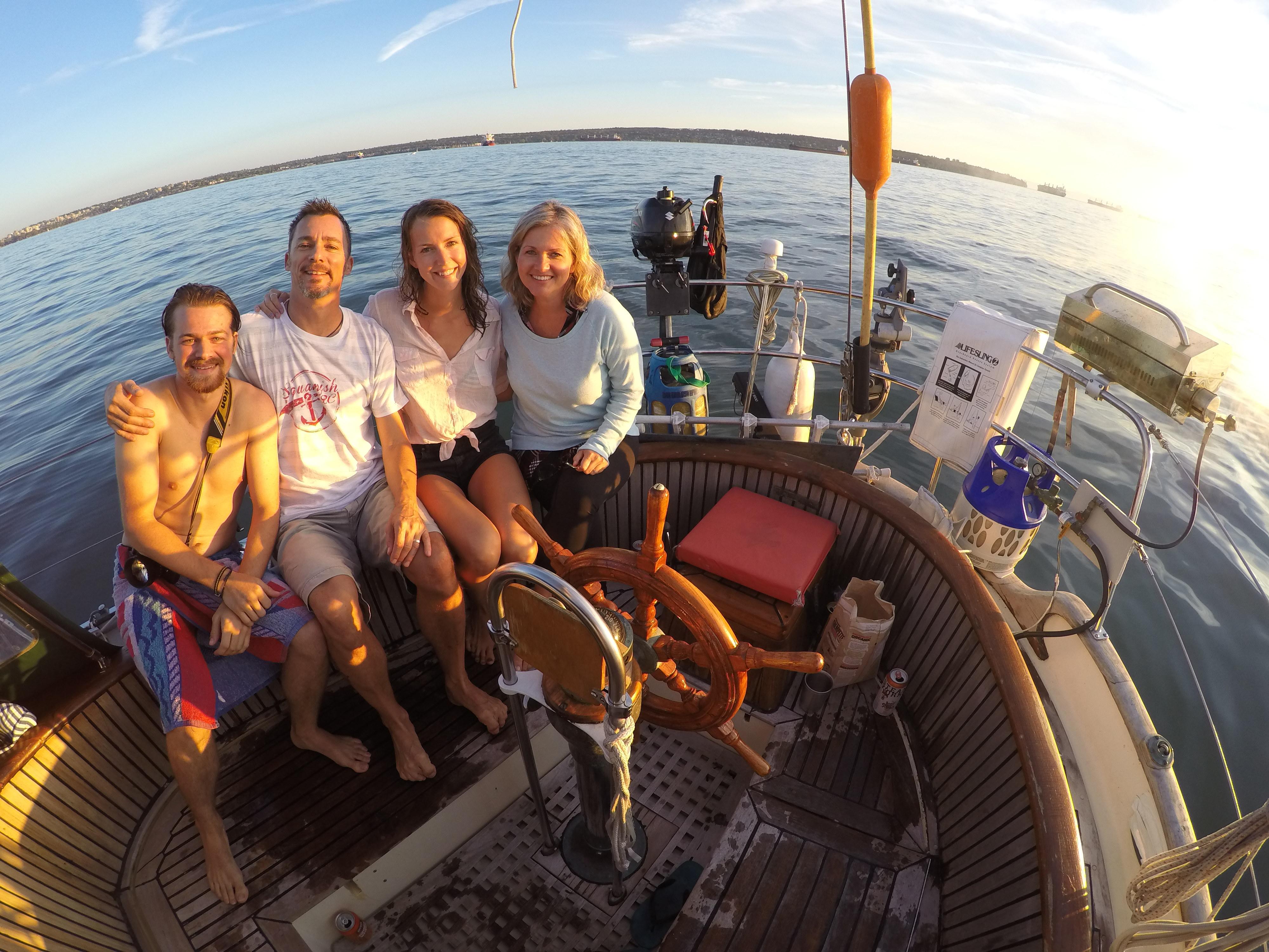 Simon, Uncle Jason, Saxony and Aunt Elyza