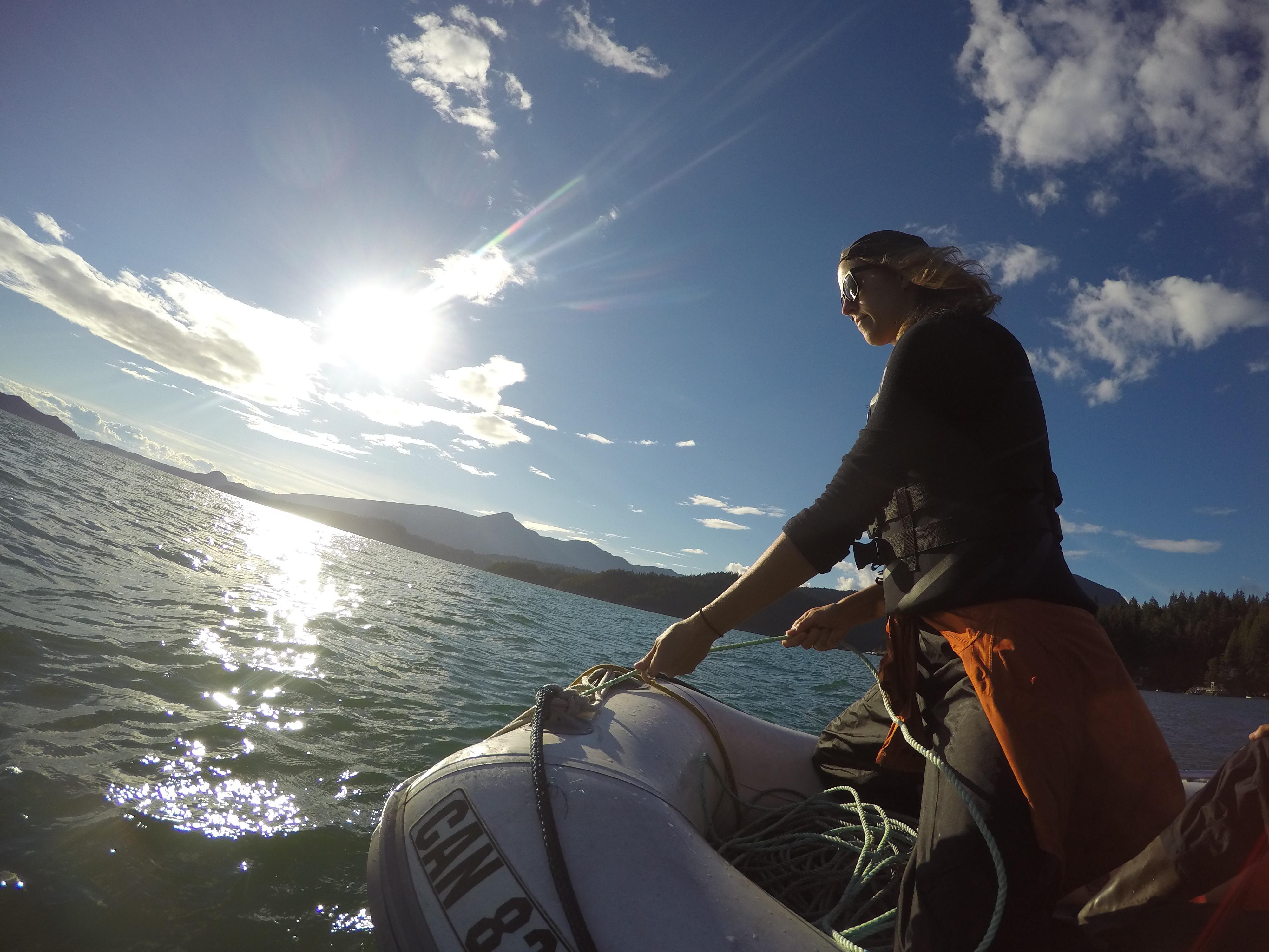Prawning Gambier Island,BC