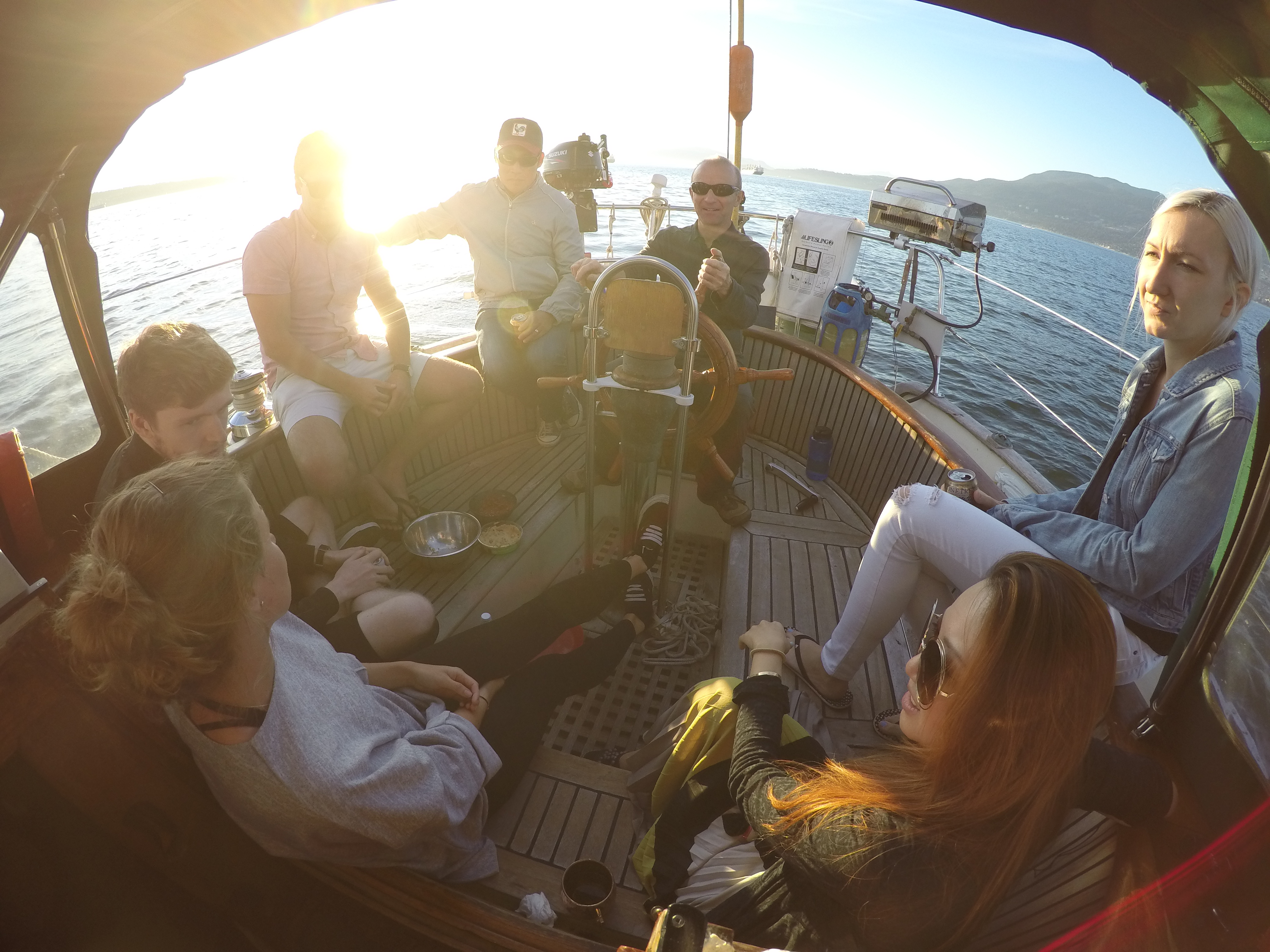 Team Leavetown and Cozystay out for a sail