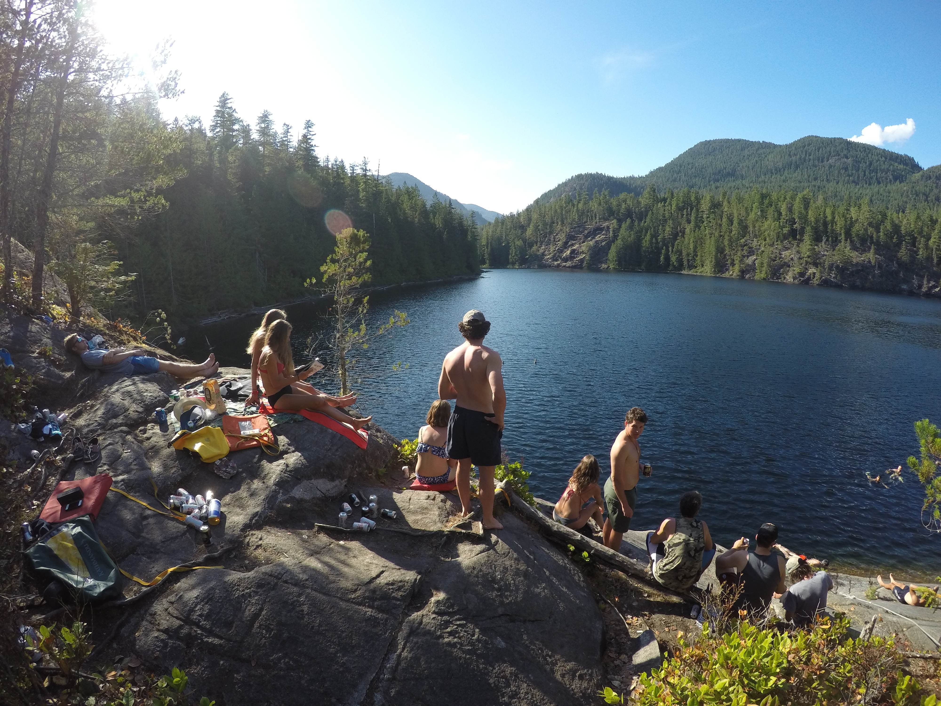 Group afternoon at Cassel Lake. The kiwis hiked in some chilly bins full of beer. What industrious young men.