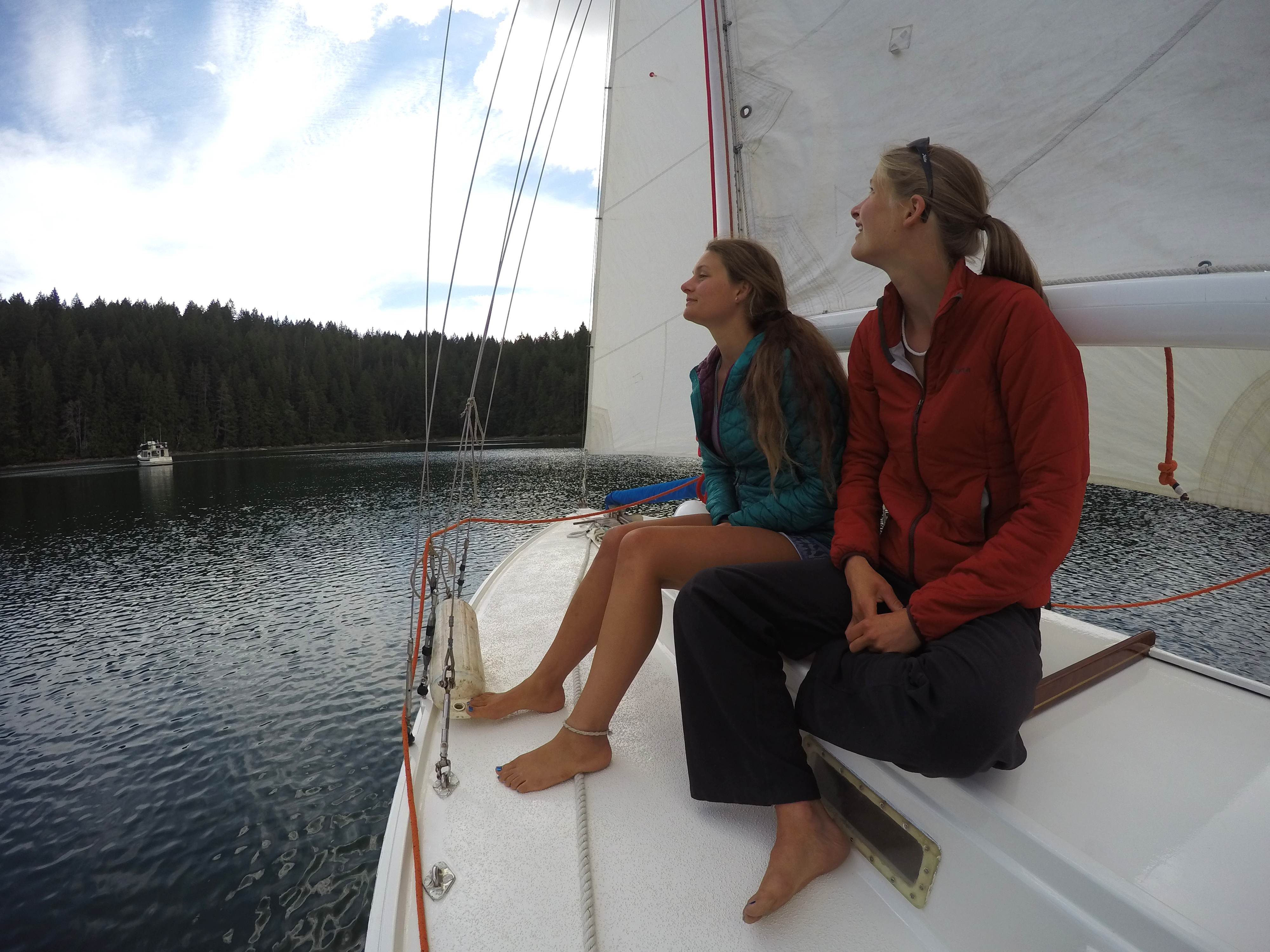 RozDawg and Celia during our sailing lesson. Thank again so much! We learned many things