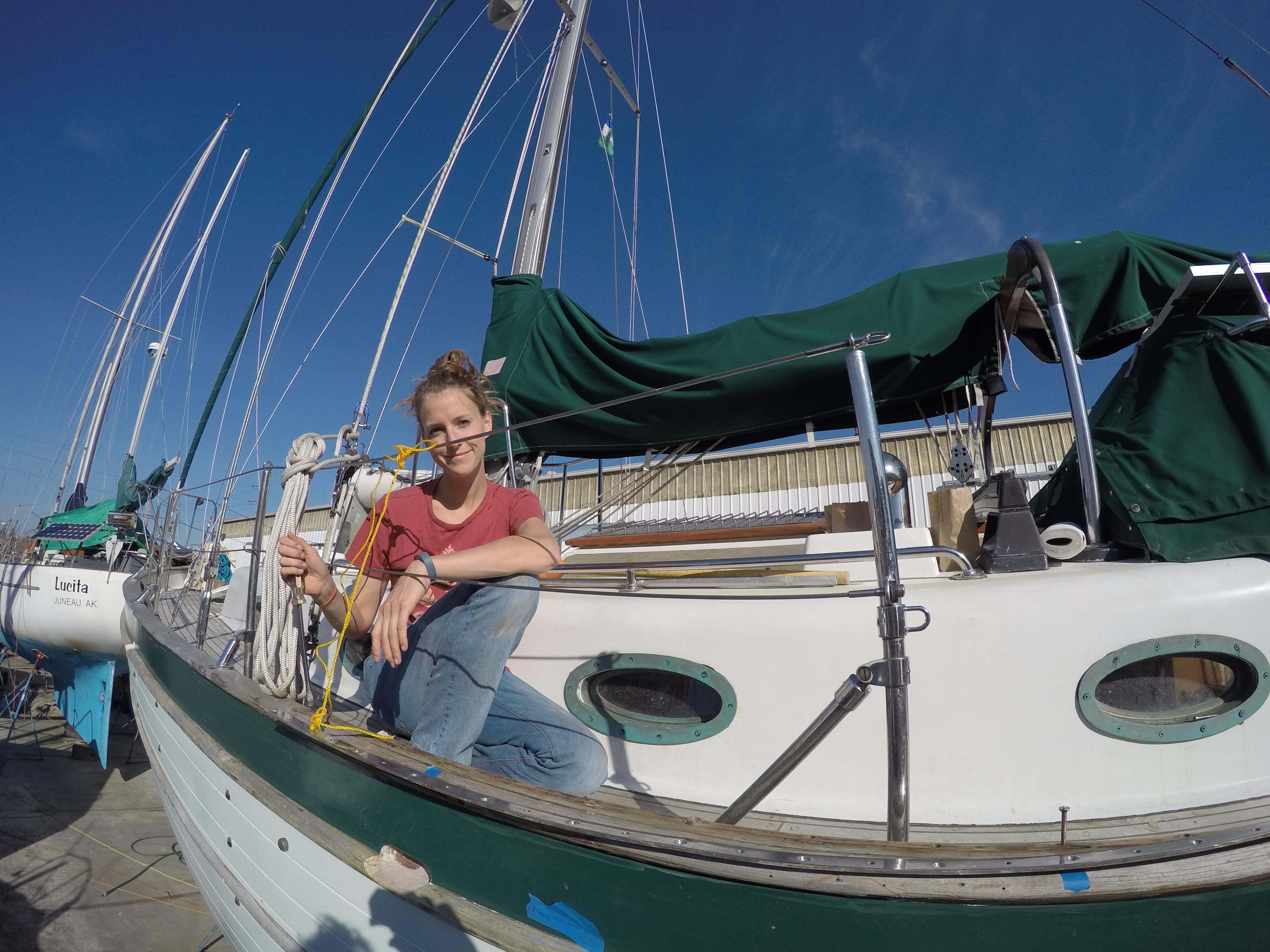 union 26, sailboat, jib track, leaking bulwark