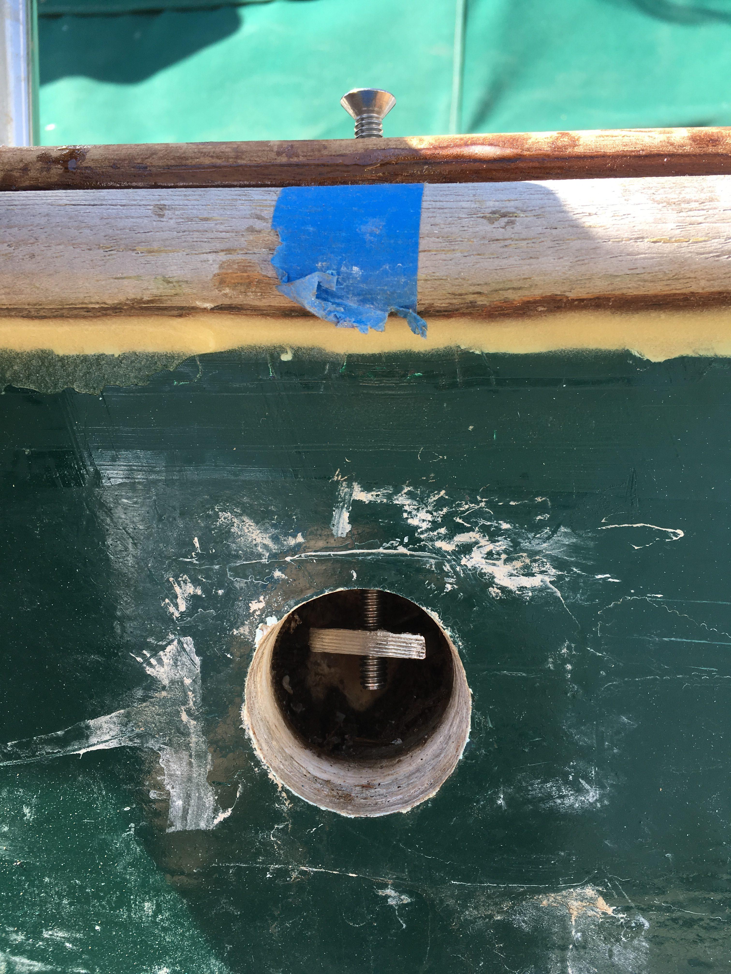 jib track bolt, union 36, leaking bulwarks