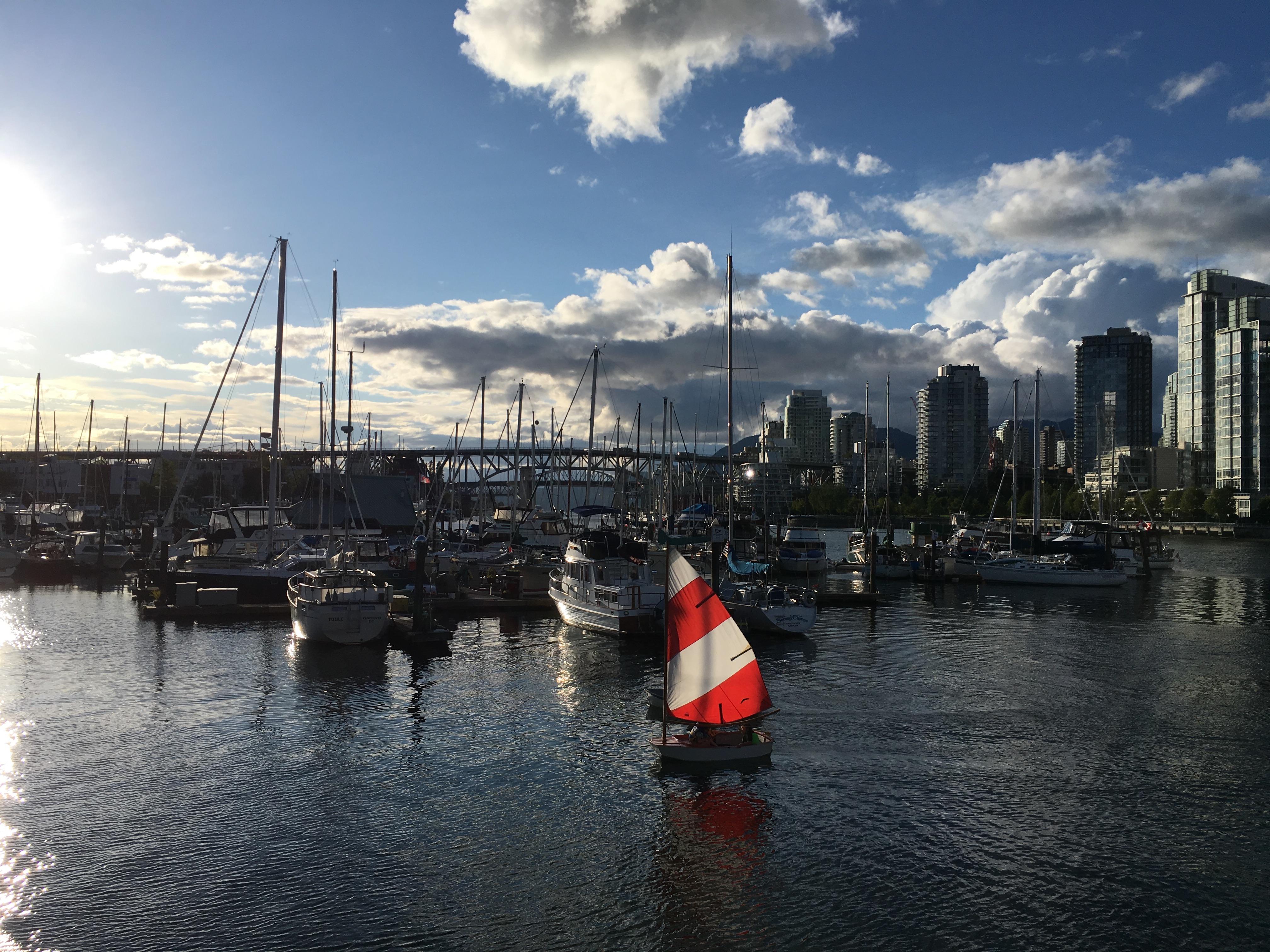 sailing dinghy false creek