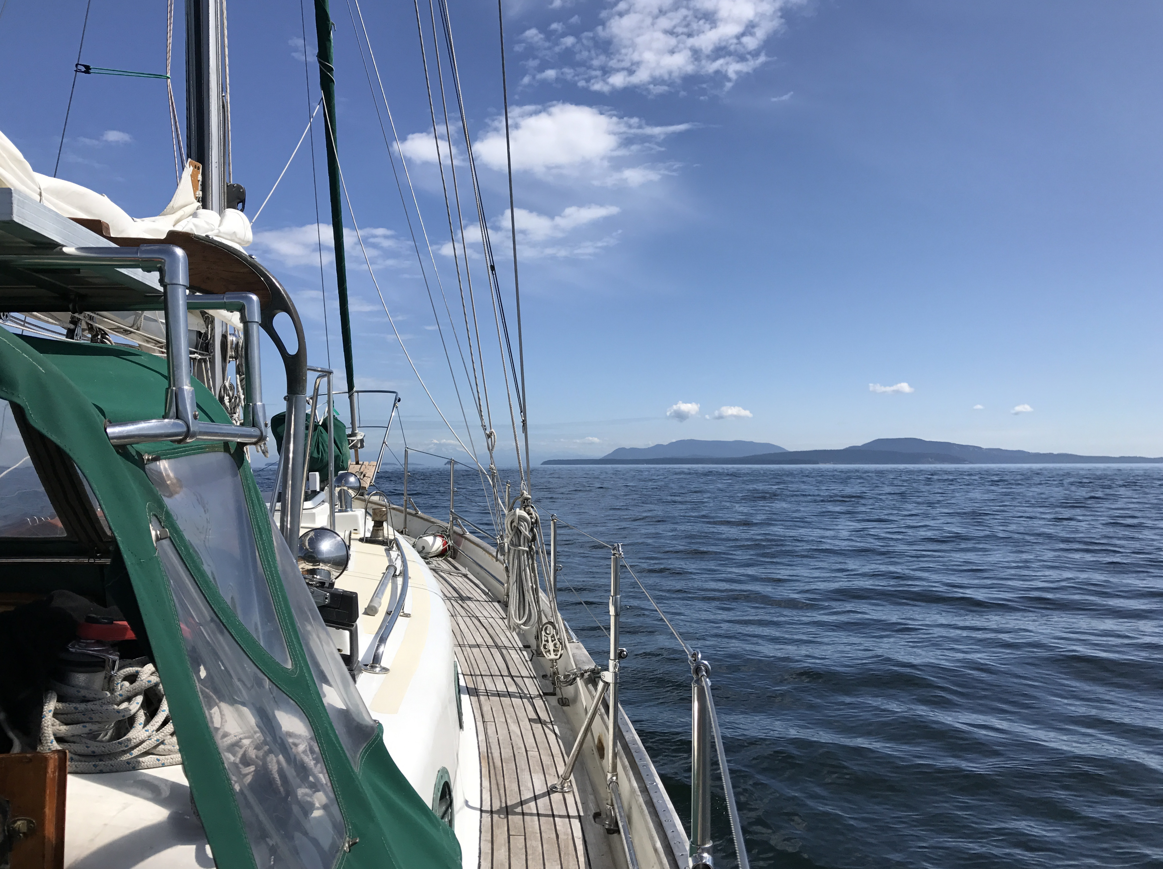 Leaving Bedwell Harbour, we're looking at the Northern San Juan Islands