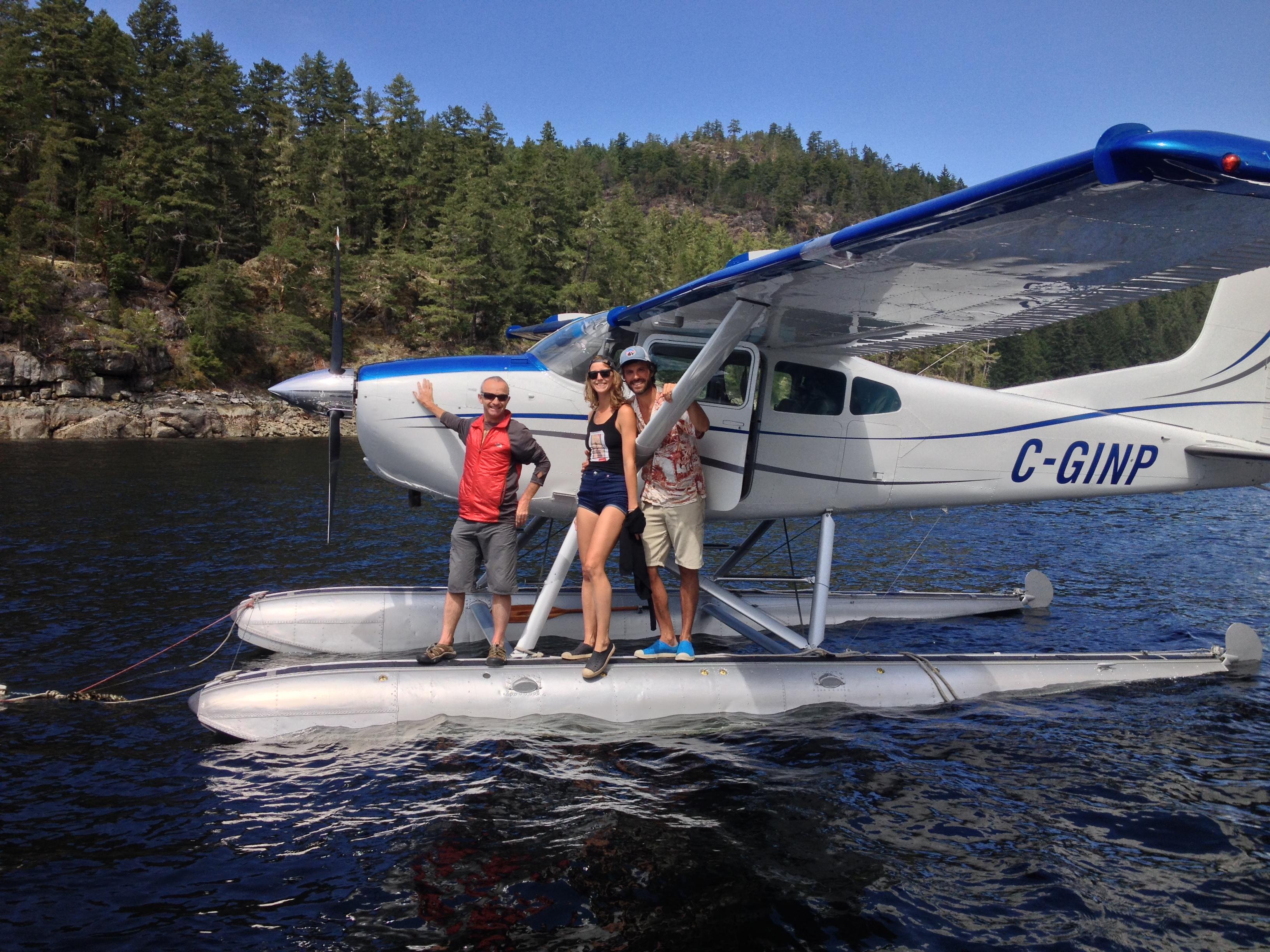 Cessna 185 floats Refuge Cove BC Desolation Sound