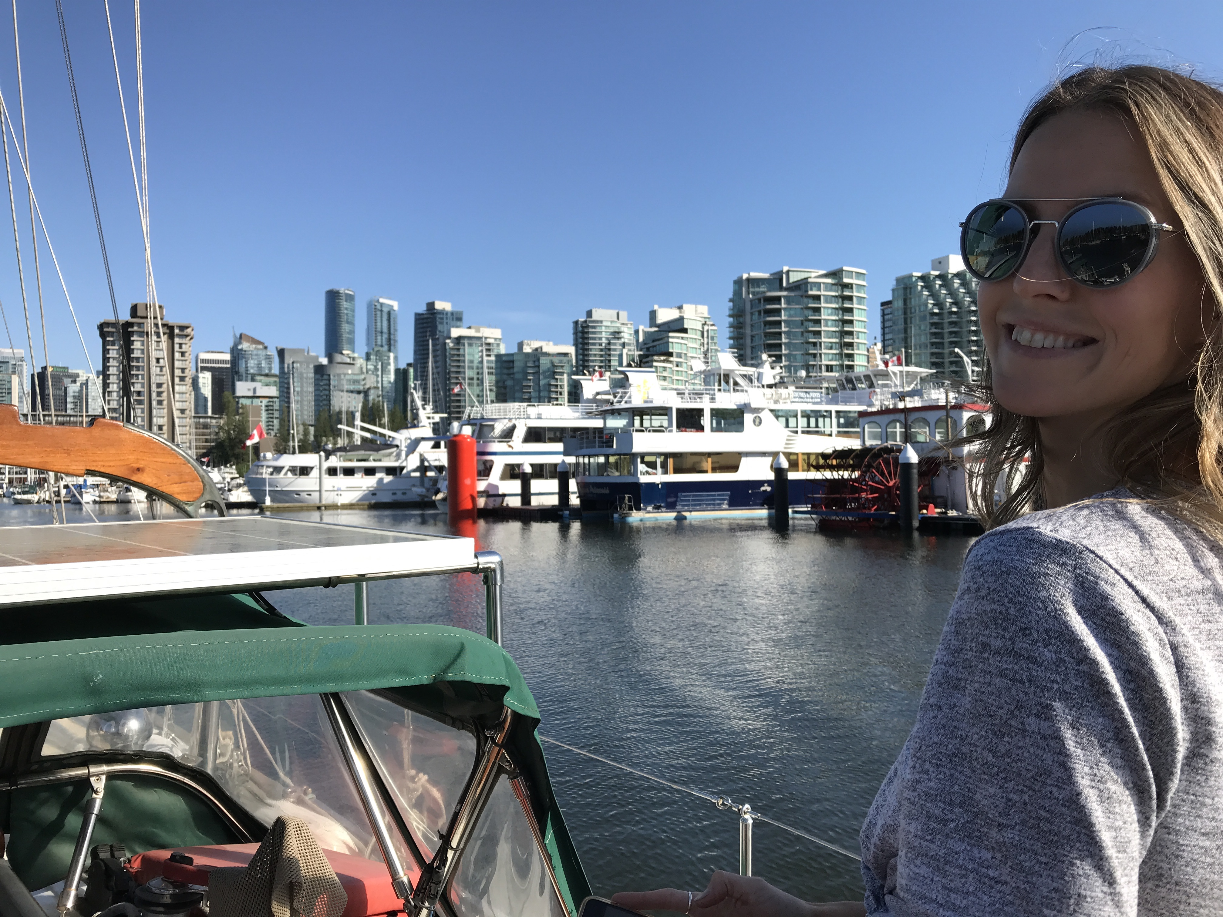 First time ever taking Leela through Coal Harbour