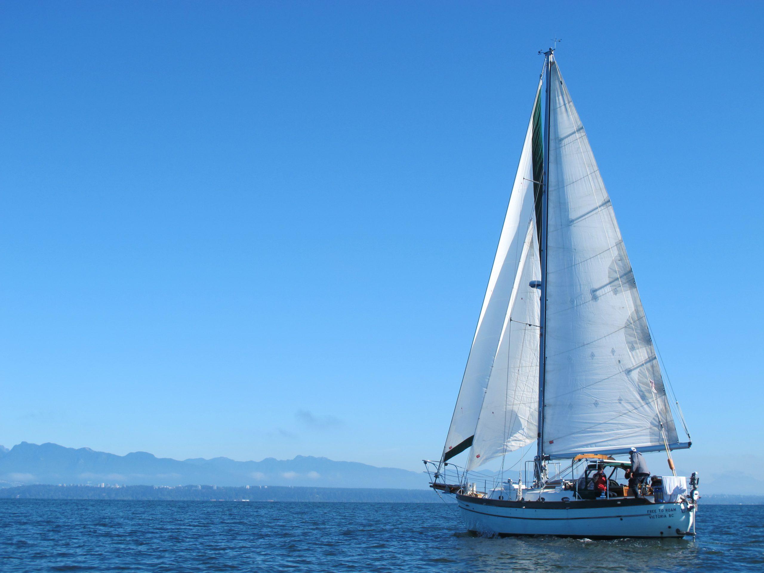 Leela under sail