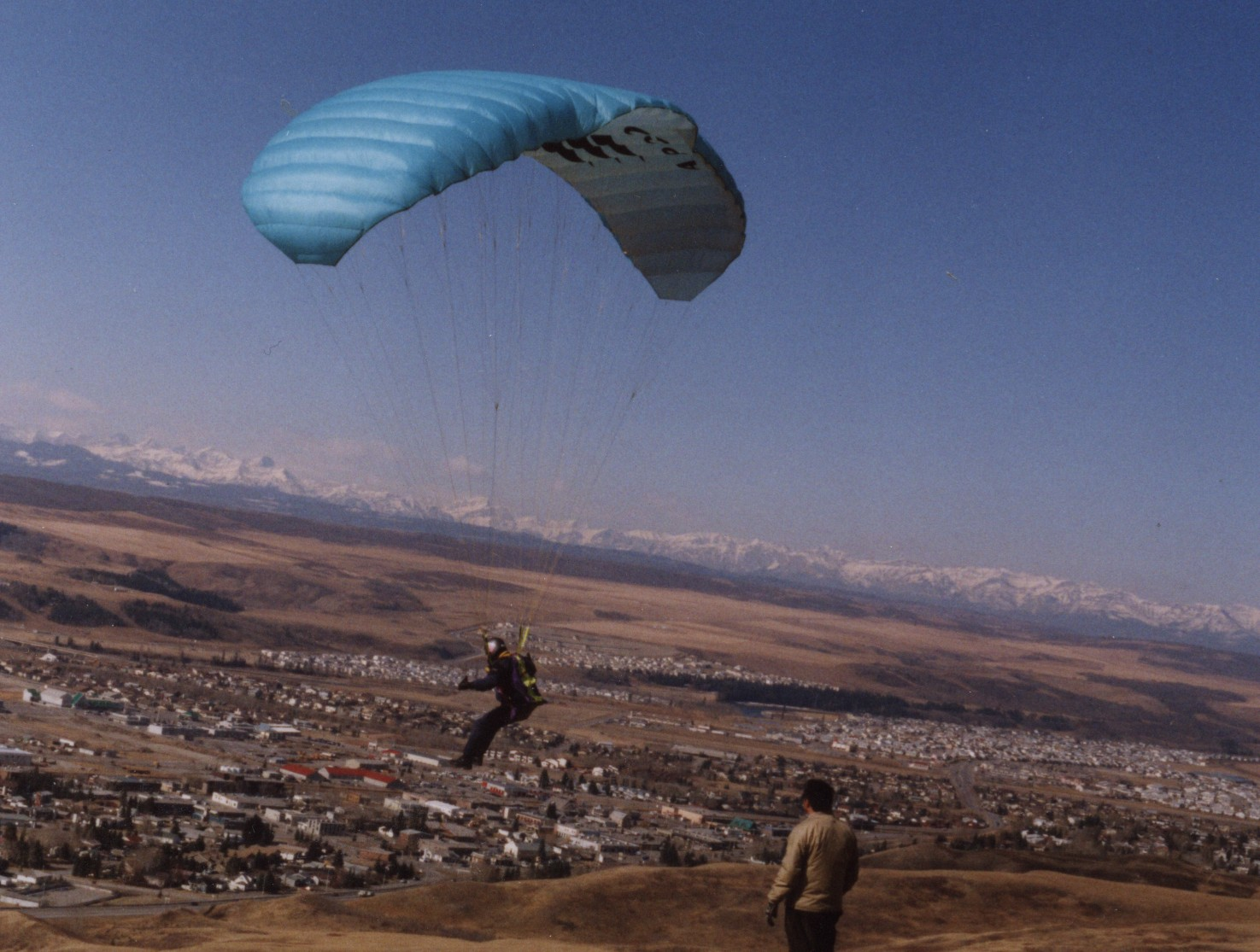 Peter was also a paraglider Pilot! This is him flying in
