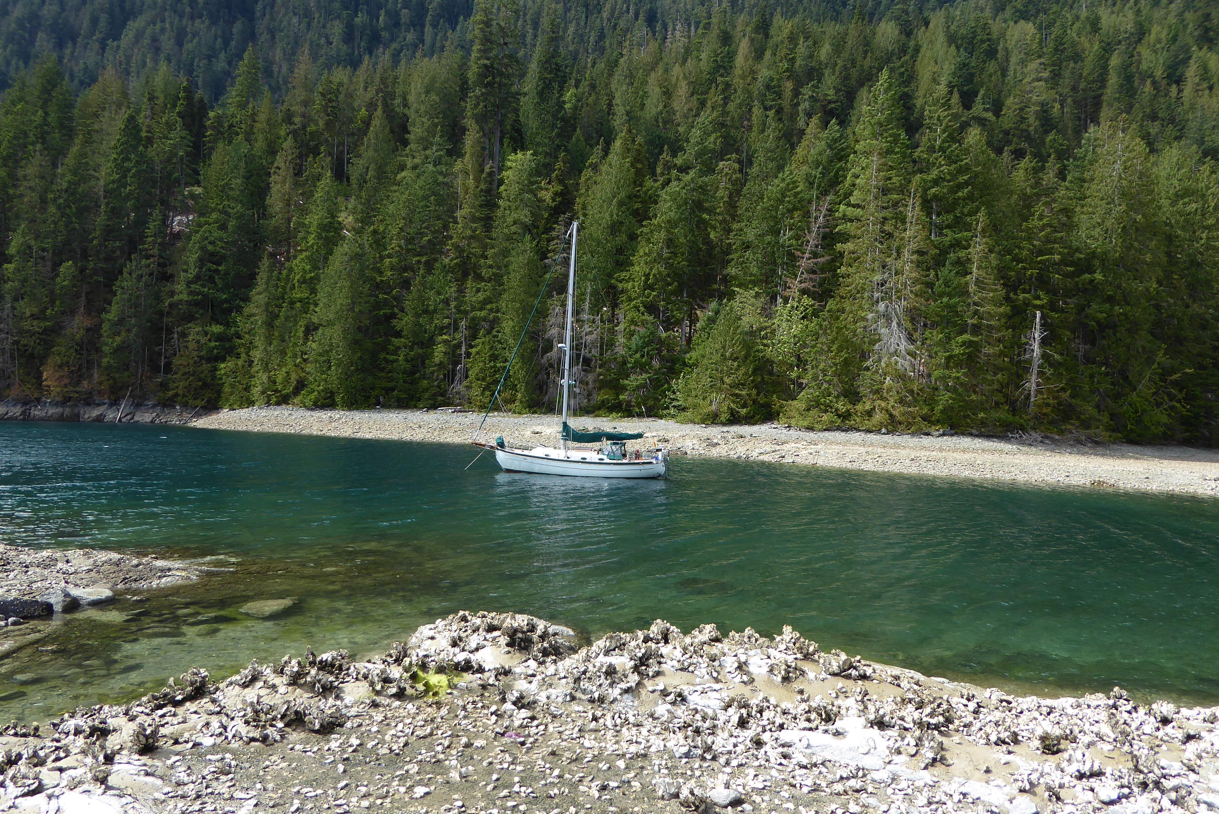 Leela at anchor in Desolation Sound