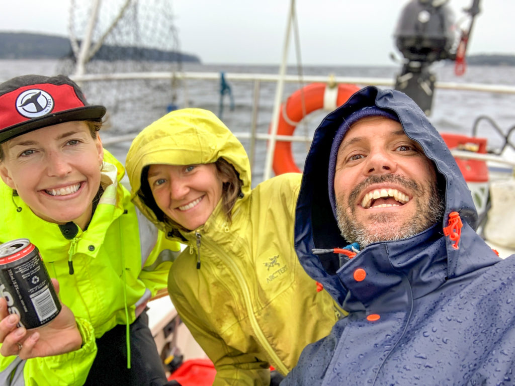 Day 1 - We're having fun sailing North in miserable weather